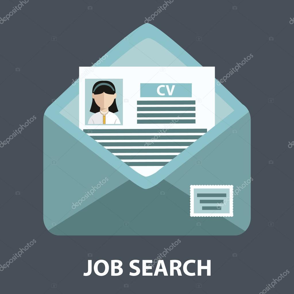 recherche d u0026 39 emploi  envoi de cv  u2014 image vectorielle