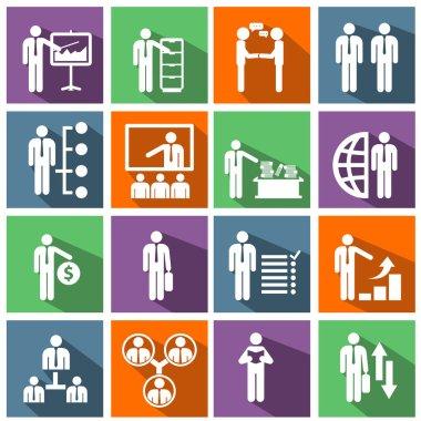 management icons set.