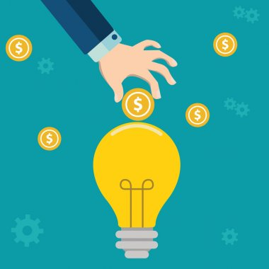 Smart investment flat design concept .