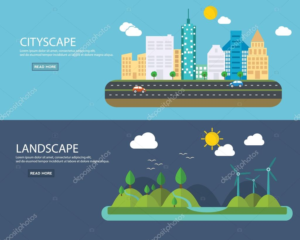 green energy and urban landscape