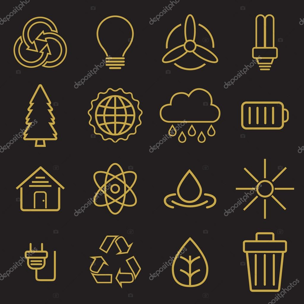 Ecology icons for web
