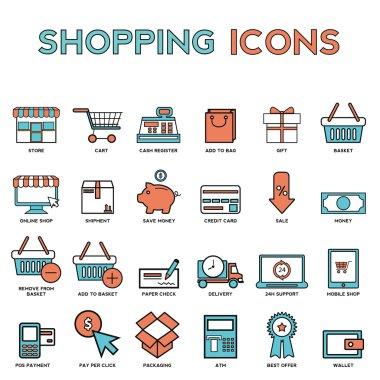 elements of market store goods