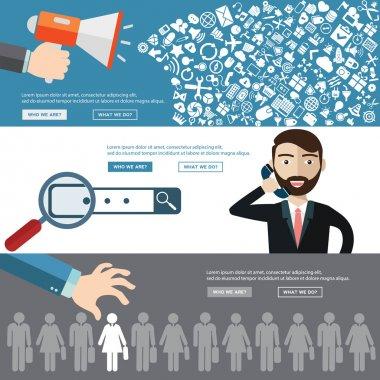 HR management infographics element