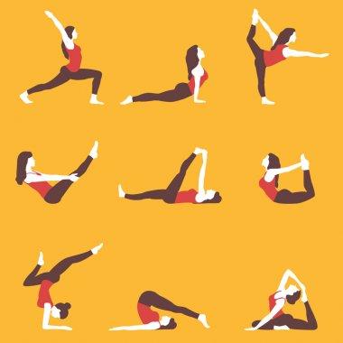 Set of yoga exercises