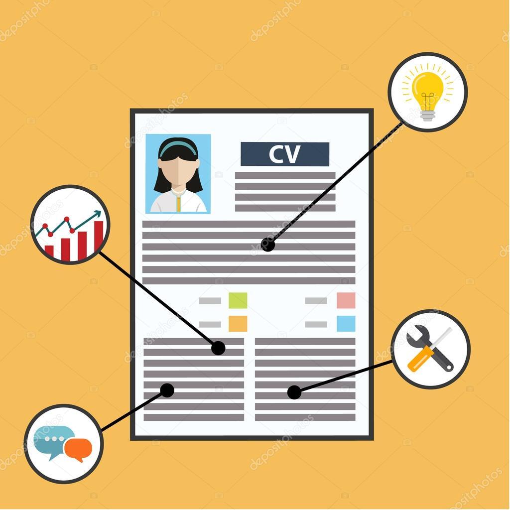 Curriculum Vitae de Cv empresa con habilidades — Archivo Imágenes ...