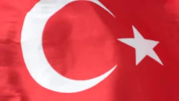 Turecká vlajka mávání