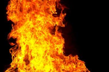 """Картина, постер, плакат, фотообои """"red fire flame on black background"""", артикул 95021956"""
