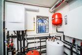 Fotografie inneren Haushalt Kessel mit Gas und Elektrische Heizkessel