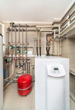 Boiler room equipment with deep pumps