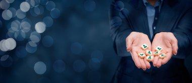 marketing segmentation and team building concept