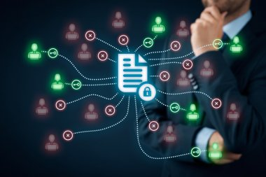 Data management and privacy concept