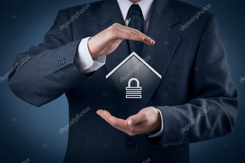 Property security and insurance concept.
