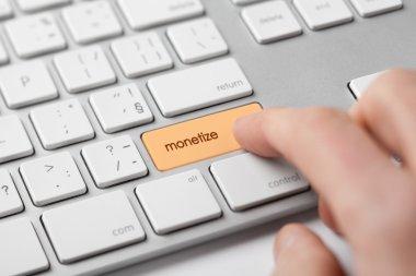 Monetize on-line internet project concept.