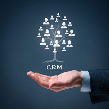 CRM and customers concept.