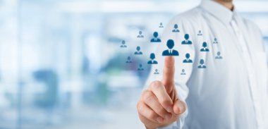 Human resources officer choose employee