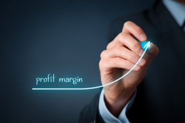 Increase profit margin concept.
