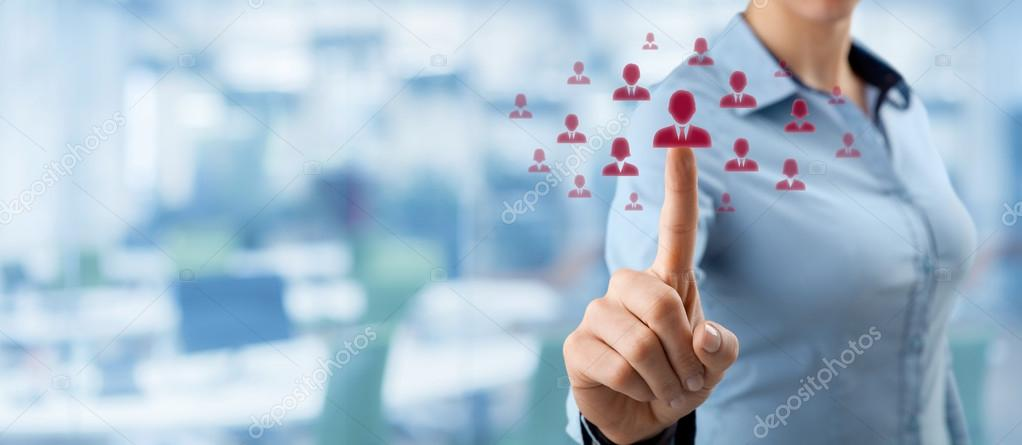 Human resources and social networking concept