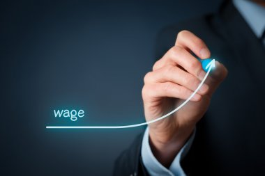 Increase wage concept