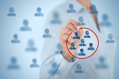 Marketing segmentation concept