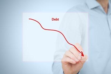Debt reduction business concept