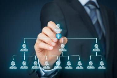 CEO, leadership and corporate hierarchy concept