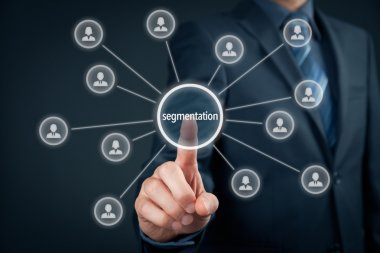 Marketing segmentation concept.