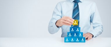 Human resources and CEO concept