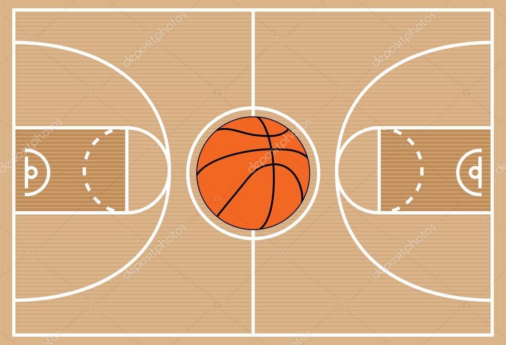 Vector Illustration Of Basketball Court Symbol Stock Vector