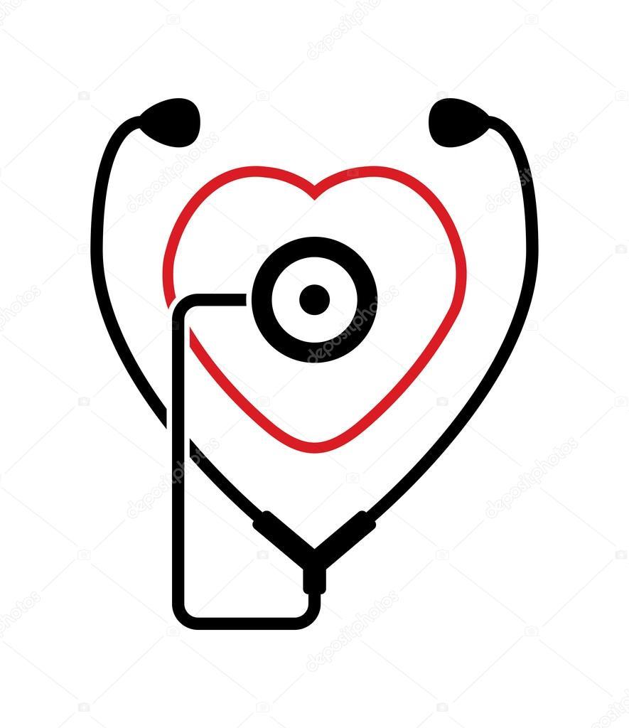 Vector Symbol Of Medical Stethoscope Stock Vector Dmstudio