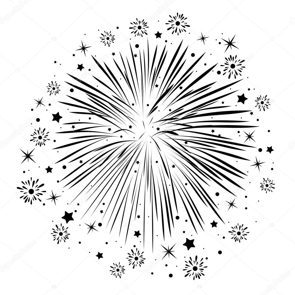 Super anniversaire abstract Vector noir et blanc, éclatement des feux d  ZL06