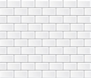 Vector white tile wall stock vector