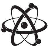 Photo vector abstract science icon or symbol of atom