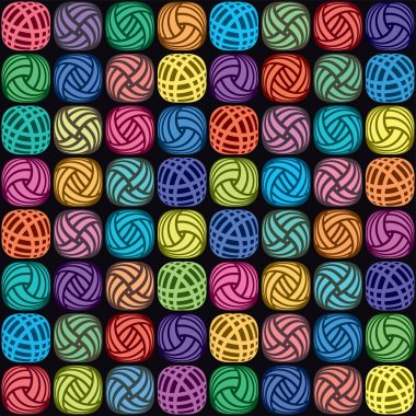 vector background of colorful yarn balls
