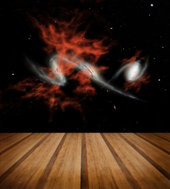 Space galaxy background. Elements of this image furnished by NASA stock vector