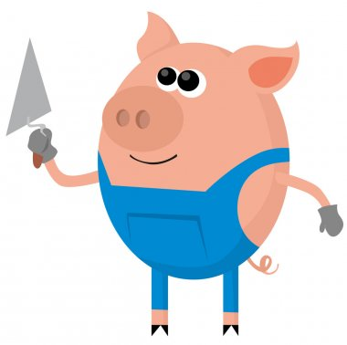 Pig as the bricklayer