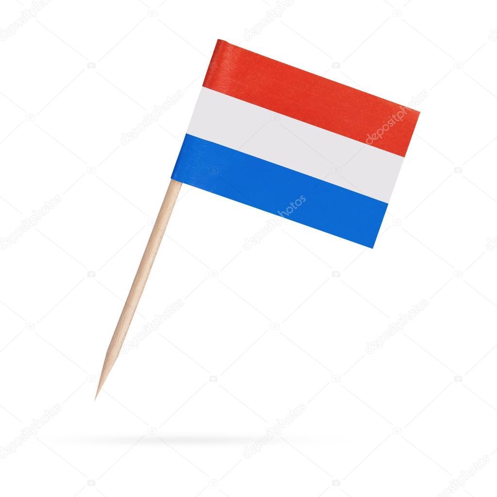 miniature du pavillon néerlandais. pavillon isolé de hollande sur