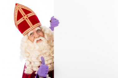 Sinterklaas with whiteboard