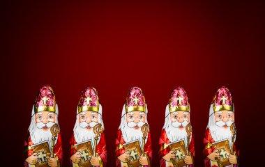Sinterklaas . Dutch chocolate figure