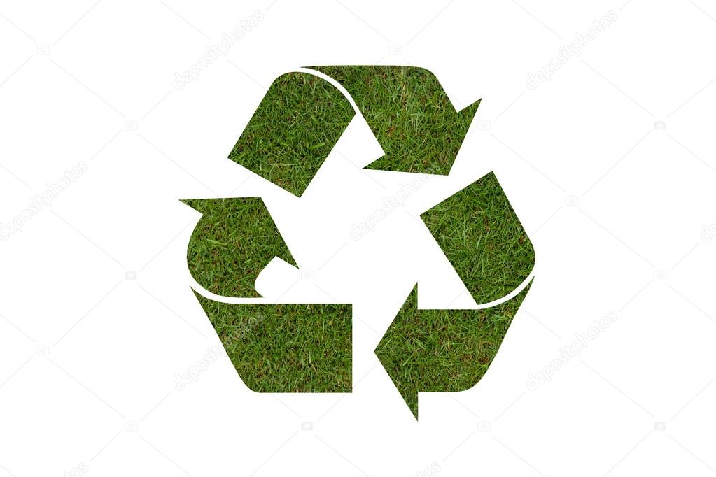 Recycle Symbol With Real Grass Texture Stock Photo C Twixx