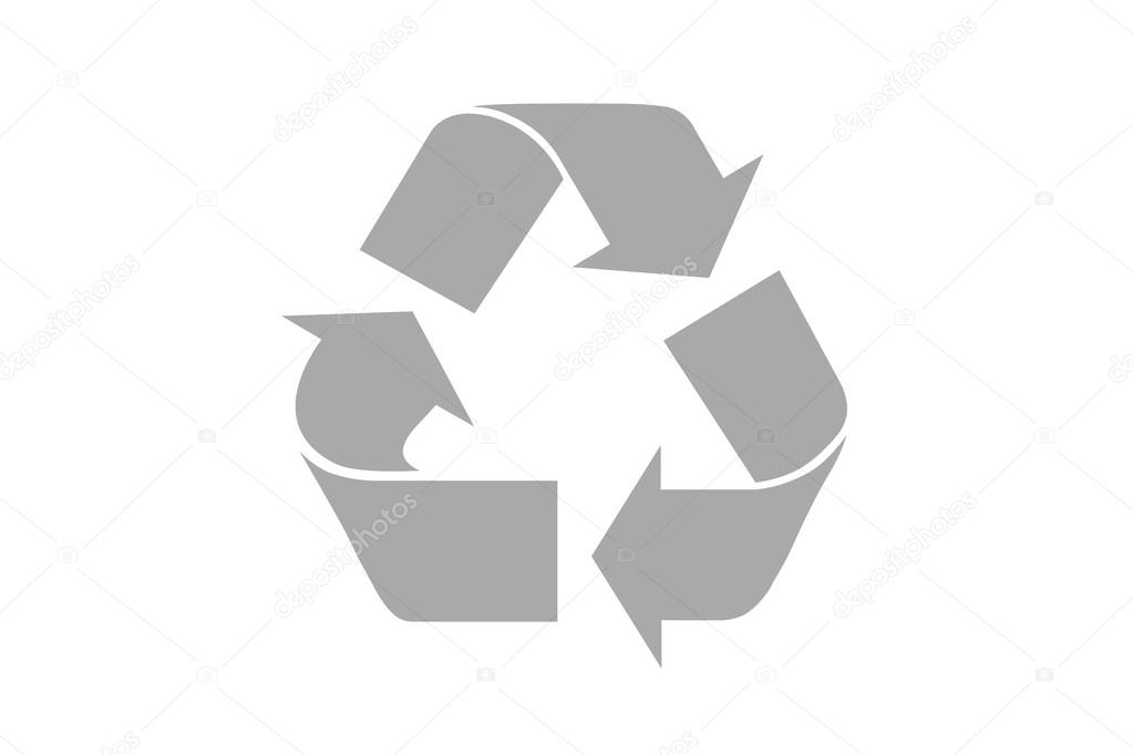 Grey Recycle Symbol With Clipping Path Stock Photo Twixx 60518709