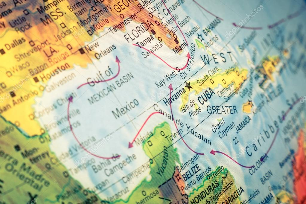 Map of cuba and florida macro image stock photo twixx 62880523 map cuba and florida close up macro image of cuban map selective focus photo by twixx gumiabroncs Choice Image