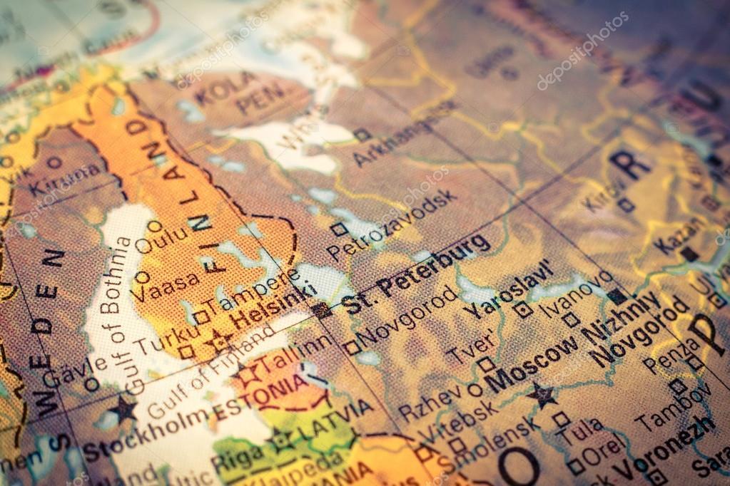 Mapa de rusia y finlandia imagen de primer plano foto de stock map russia and finland close up macro image of russian map selective focus on stterburg foto de twixx gumiabroncs Gallery