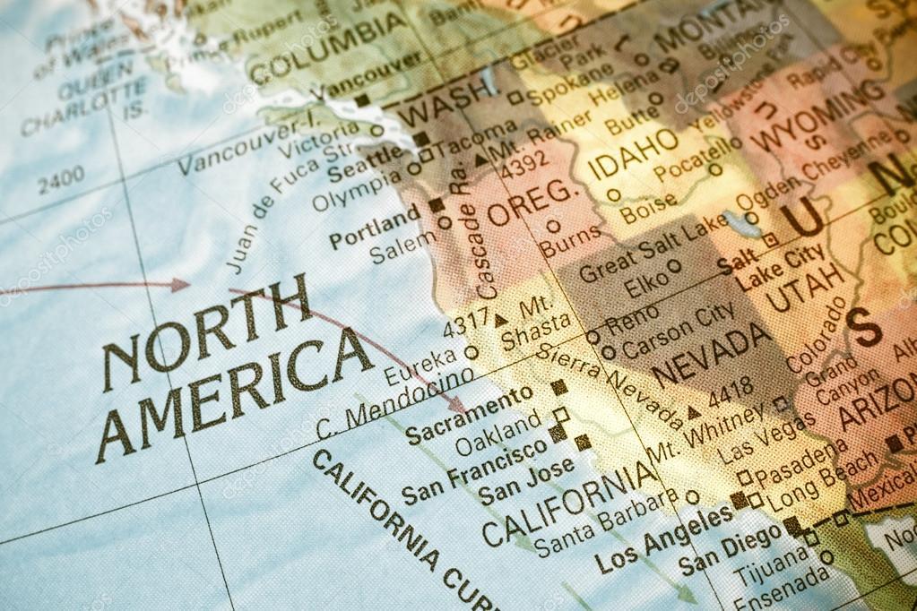 nyugat amerika térkép Nyugat Észak amerikai Térkép. Közelkép kép — Stock Fotó © twixx  nyugat amerika térkép