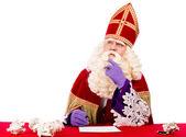 Fotografie Sinterklaas v myšlení pozice
