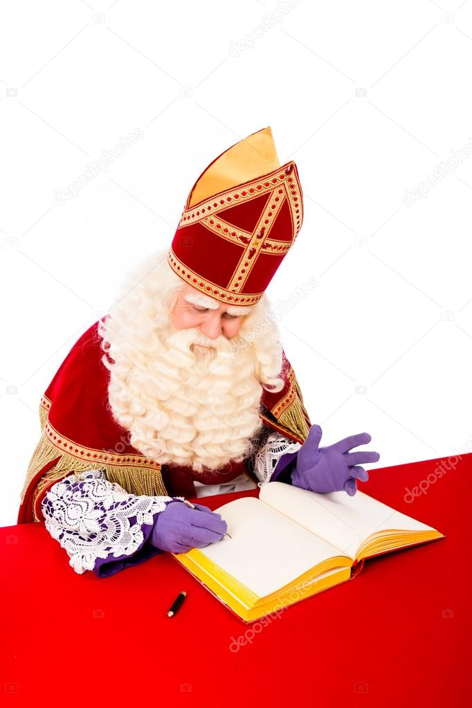 41df4d927379f Sinterklaas with book — Stock Photo © twixx  82615226