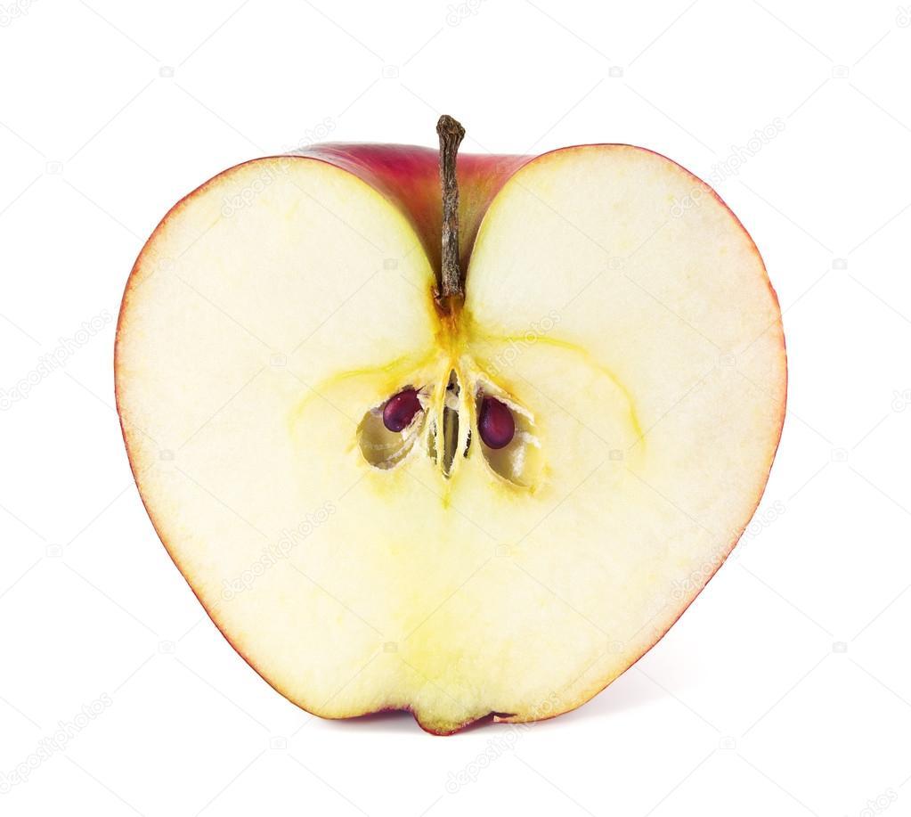 Яблоко на белом фоне картинка 6