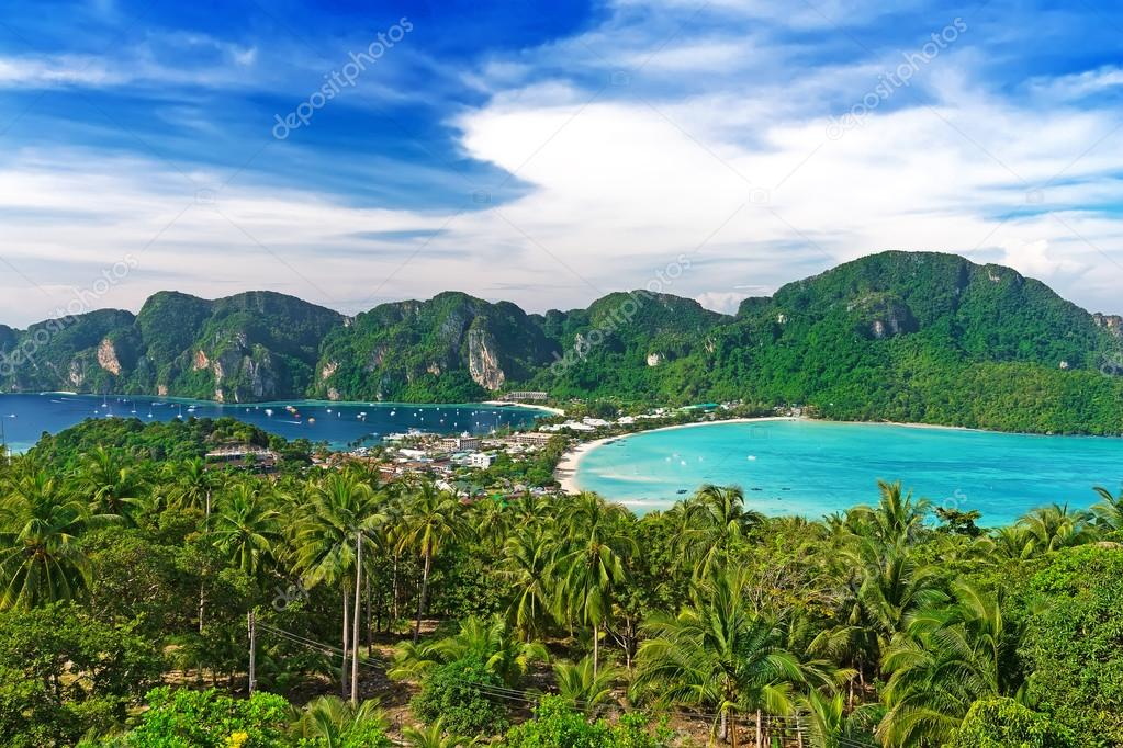 Travel vacation background - Phi-Phi island, Krabi Province, Tha