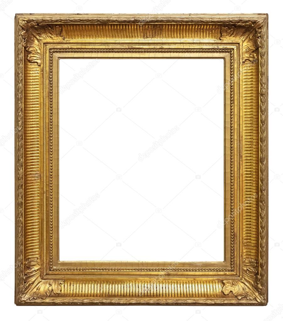 bilderrahmen vintage gold farbe stockfoto preto perola 70582069. Black Bedroom Furniture Sets. Home Design Ideas