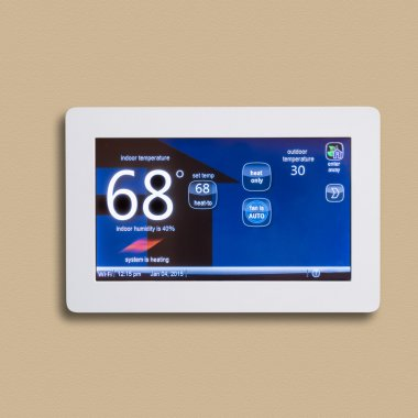 Programmable electronic thermostat, isolated