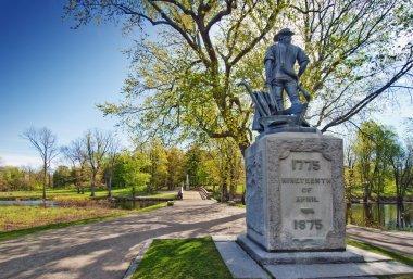 Statue of minuteman, old north bridge, Concord, Massachusetts, USA